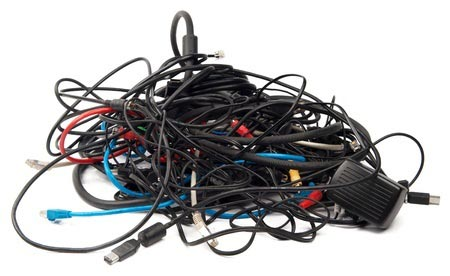 Heap of computer cables